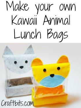DIY Kawaii Animal Lunch Bag