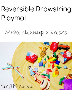 Reversible Drawstring Playmat