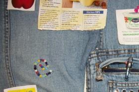 Recycled Denim Jeans Memo Board