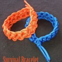 Survival Bracelet Done In Crochet