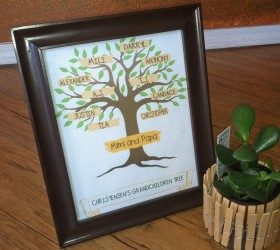 Framed Family Tree
