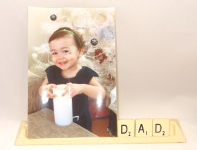 Father's Day Craft: Scrabble Tile Picture Holder