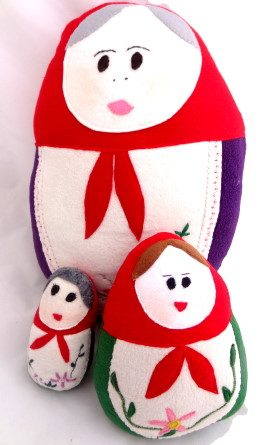 Plushie – Russian Matryoshka Doll Cushion