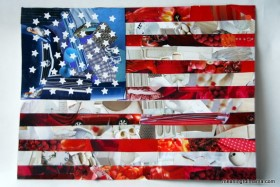 Patriotic 4th of July American Flag Collage