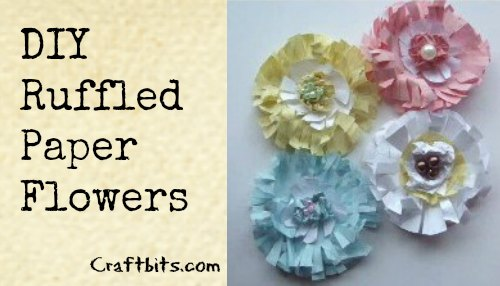 How To Make Ruffled Paper Flowers