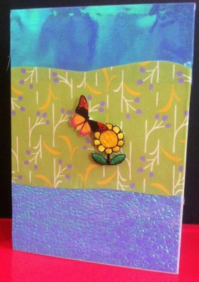 Cardmaking – Friendship in the garden