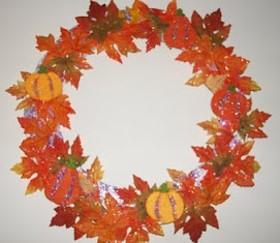 Wreath – Pumpkins and Glitter