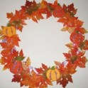 Wreath - Pumpkins and Glitter