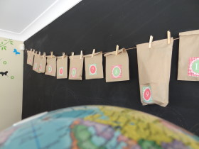 Advent Calendar Using Brown Paper Bags