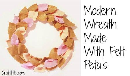 Wreath – Modern Felt Petals