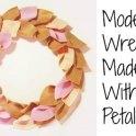Wreath - Modern Felt Petals
