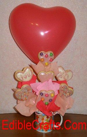 Valentine's Day Cookie Bouquet