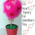 DIY Heart Topiary For Valentine's Day