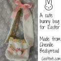 Bunny Bag From Chenille Bedspread