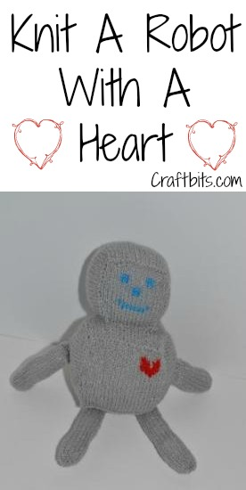 Knitted Heartfelt Robot