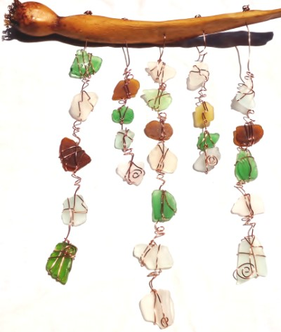 Sea Glass and Driftwood Chime
