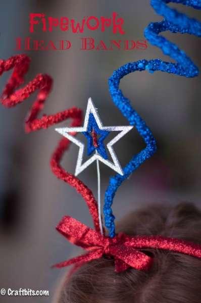 Firework Headbands {4th Of July Craft}