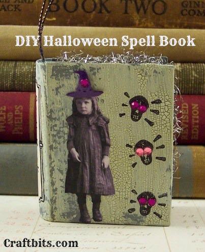 Halloween Spell Book Ornament