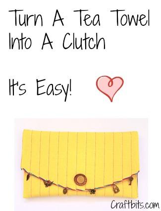 Purse – Charming Tea Towel Clutch