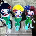 Mermaid Clothespin Clips