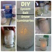 Epsom Salt Luminaries