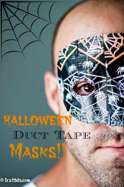 Halloween Duct Tape Masks