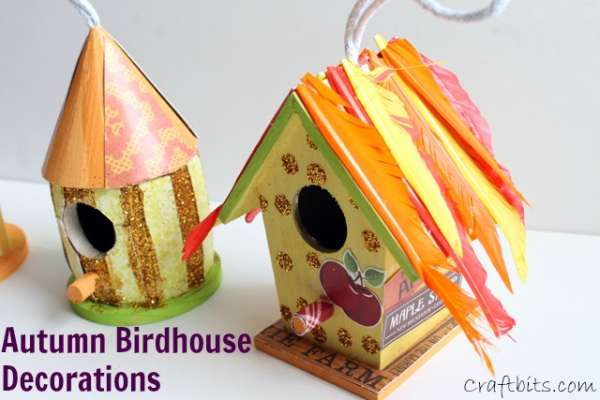 Autumn Birdhouse Decoration Ideas