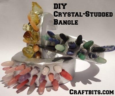 DIY Crystal-Studded Bangle