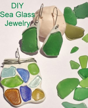 Sea Glass Pendant And Earrings
