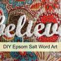Epsom Salt Christmas Word Art