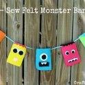 No-Sew Felt Monster Banner