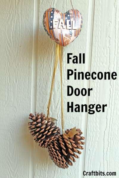 Fall Pinecone Door Hanger