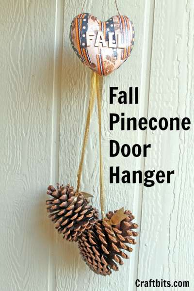 Fall Pinecone Door Hanger