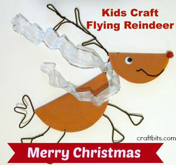 Flying Reindeer Christmas Craft