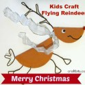 Flying Reindeer Christmas Craft