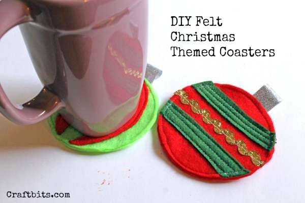 Felt Christmas Ornament Coasters