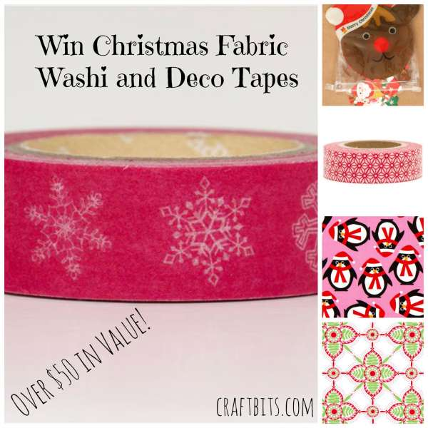 Win Christmas Fabric, Deco Tapes And Washi Tapes