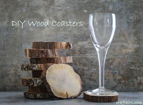 DIY Wood Coasters for Cordials