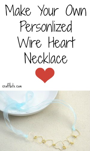 DIY Necklace: Wire Hearts Garland