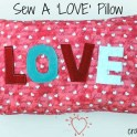 Sew a LOVE Word Pillow