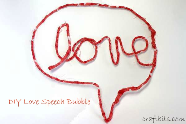 Speech Bubble Love Sign