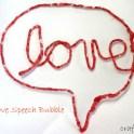 Speech Bubble Love Sign