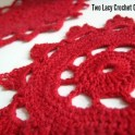 Two Lacy Crochet Coasters