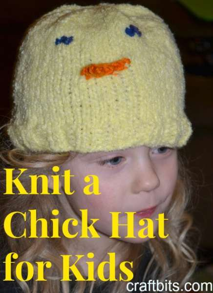 Knitted Kid's Chick Hat