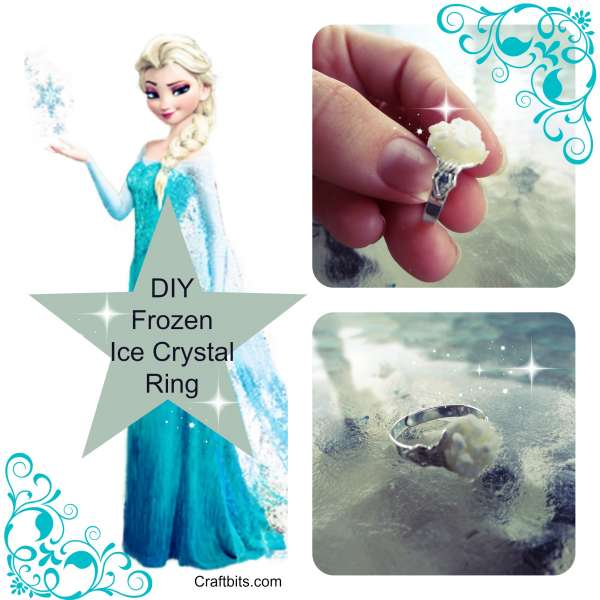"""Frozen"" Ice Queen Ring Using Epsom Salts"