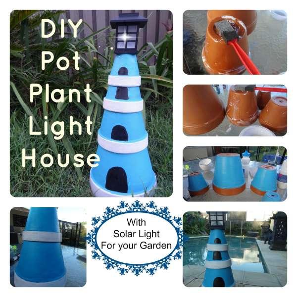 DIY Plant Pot Lighthouse