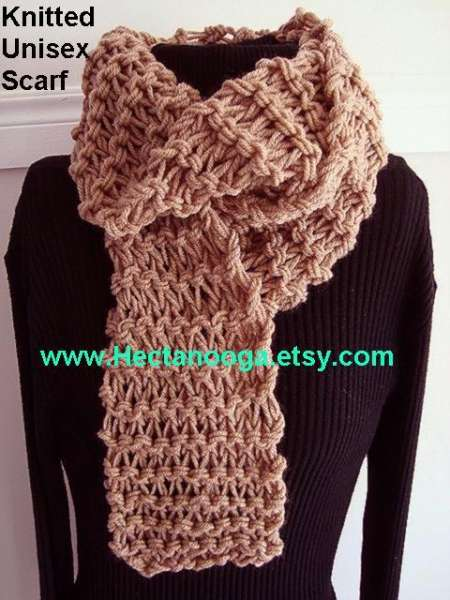 Beginner Pattern: Unisex Knitted Scarf