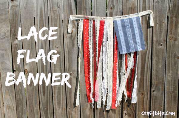 DIY Flag Banner: 4th of July Decoration