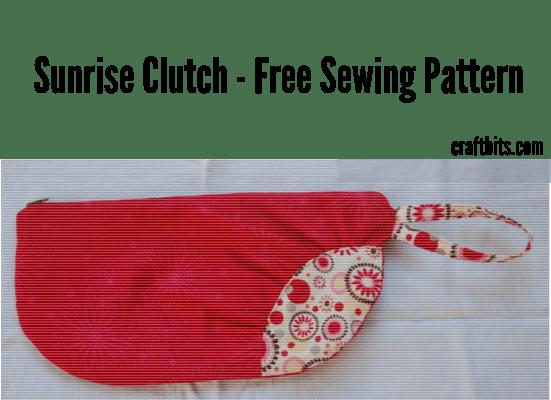 Free Sewing Pattern: An elegant clutch