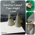Cement Cone Paper Weight